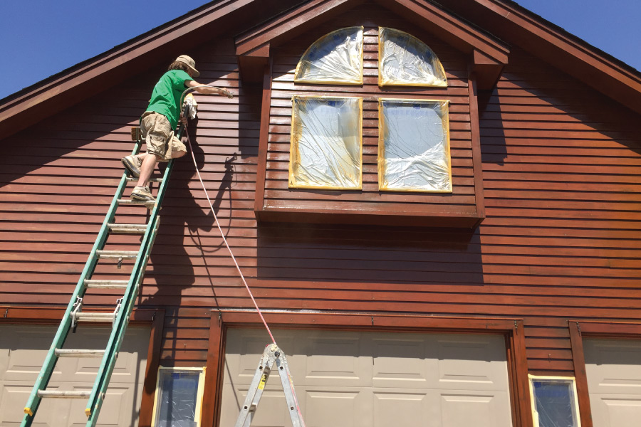 Staining Siding In Prior Lake Okeefe Painting House