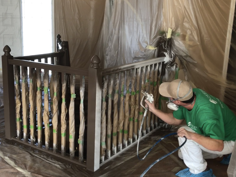 Staircase painting in Eden Prairie MN