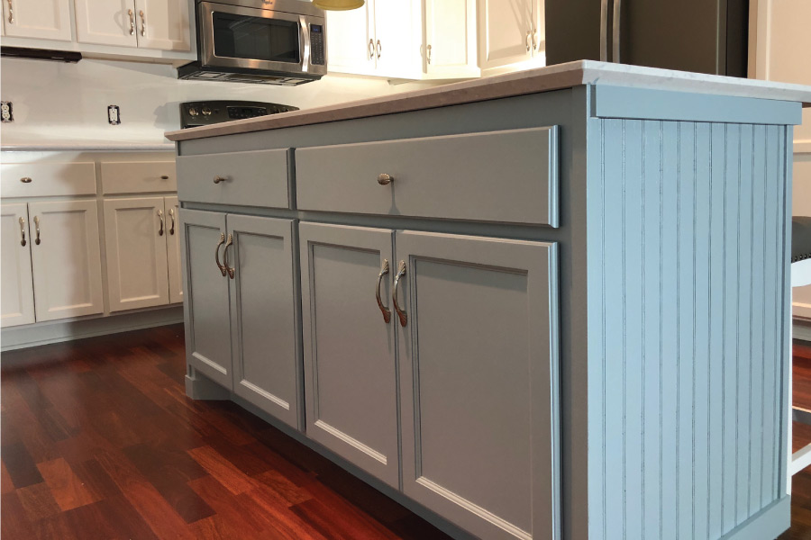 Accented island painted with Benjamin Moore Advance