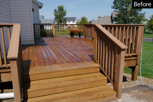 deck stripped with sodium hydroxide