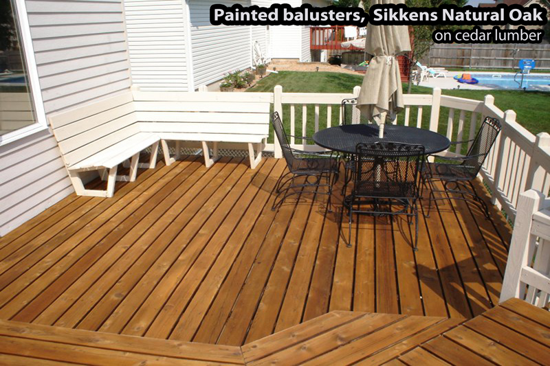 Two toned stain application for a wood deck in Rosemount MN