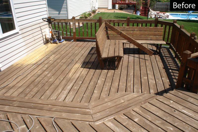 Sanding wood deck with clarke orbital floor sander