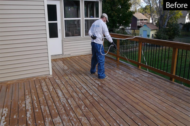 Stripping a stubborn wood stain using HD 80