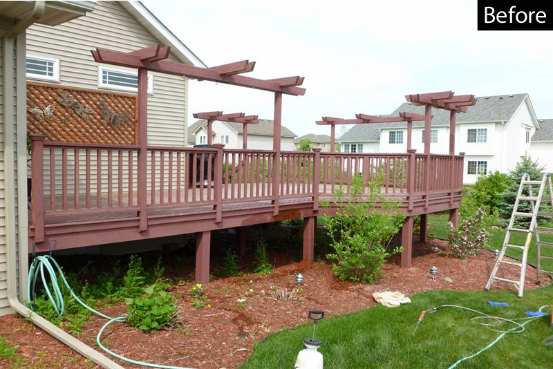 Stripping a deck for restoration
