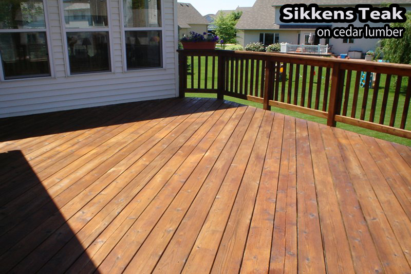 Wood deck staining in Apple Valley MN