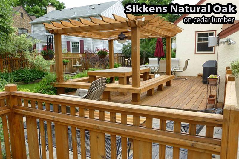 Sikkens Natural Oak on a cedar deck in Prior Lake MN