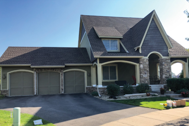 Before Painting of this Rosemount Exterior Home