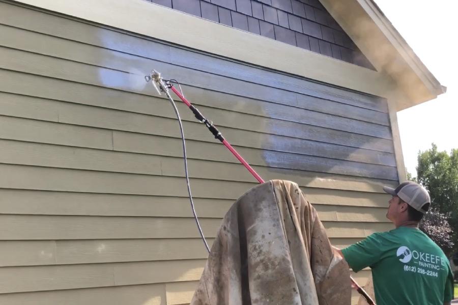 Applying a masonry conditioner to hardi siding
