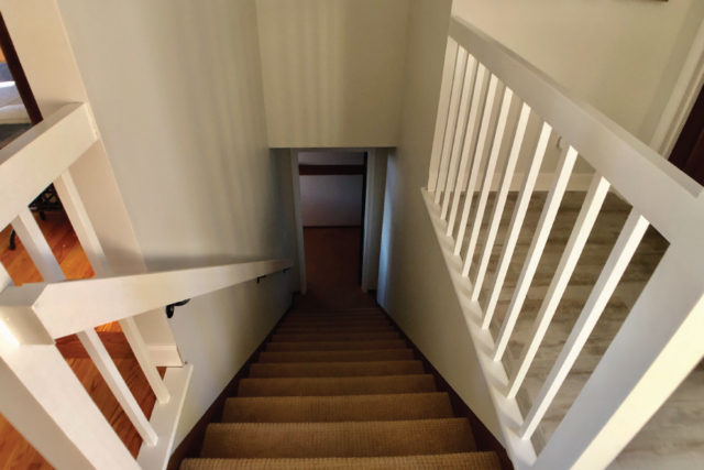 Stairwell painted with Scuff X Matte Finish